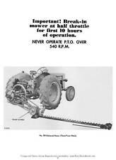 Mccormick No 100 Balanced Sickle Mower Operator Manual Farmall Case Ih