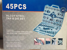 45 PC Tap and Die Set SAE. Large Imperial Taps and Dies. Alloy Steel Heavy Duty.
