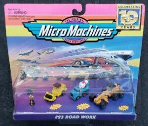 Micro Machines #23 Road Work Vehicle Set Galoob Vintage 1994 VHTF MISB