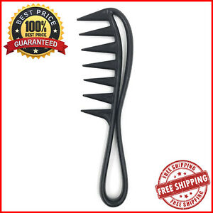 Wide Shark Tooth Plastic Comb Curly Straight Hair Detanglers Salon Styling Tools