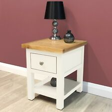 Belgravia White Painted Oak Lamp table / Side Table / Solid Wood / Brand New