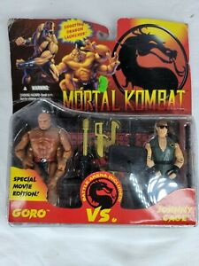 VINTAGE 1994 HASBRO MORTAL KOMBAT GORO VS JOHNNY CAGE FIGURE SET NIP