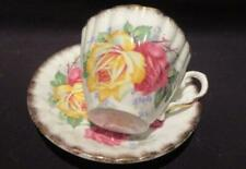 Gladstone Vintage China Tea Cup & Saucer Apricot Rose Pattern