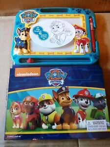 nickelodeon Paw Patrol Learn to Write Magnetic Board & Book Set *Brand New*