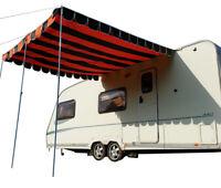 Caravan Canopy Retro Awning vintage retro style Sun Shade OLPRO - Orange & Brown
