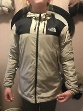 North Face Womens Waterproof Cream And Black Jacket Coat Small