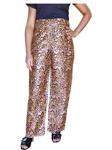 Brown African Print Pants