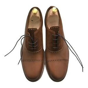Paul Smith Brown leather Laszlo Oxford shoes UK 9.5
