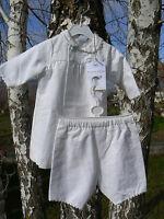 NUOVO Petit Bateau completo robe manteau e pantalone bianco 6mesi