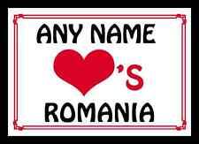 AMORE Cuore Romania personalizzata PLACEMAT