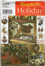 ©1990 UNCUT Simplicity Holiday Pattern Collection # 8366 Christmas Decorations