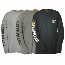 New Caterpillar CAT Men's Trademark Banner Long Sleeve Tee Cheap