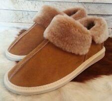 New Ladies Women Sheepskin Boot Slippers 100% Real Natural Fur Wool size 4 5 6 7