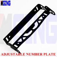 Universal Adjustable License Plate Bracket Mount Relocate Holder Bar  Black