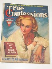 True Confessions Magazine February 1938 Very Good Condition Free Shipping!