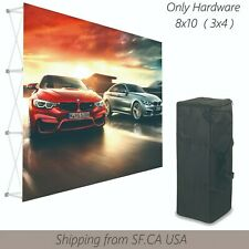 8x10tension Fabric Backdrop Booth Frame Straight Pop Up Display Stand 3x4