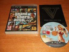 GRAND THEFT AUTO FIVE 5 V  - SONY PS3  PLAYSTATION 3 PAL GAME  V.G.C. NO MAP