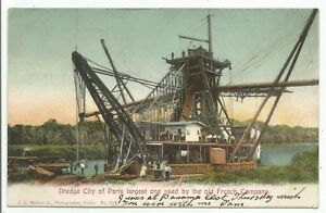 POSTCARDS-SCOTLAND-PANAMA-PTD. Dredge City Paris. Postally Used Gatun CZ.