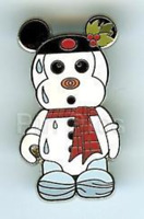 Disney Pin 73116 Vinylmation Mystery Collection Holiday Melty Snowman Mickey &