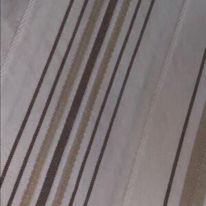 Restoration Hardware striped shower curtain
