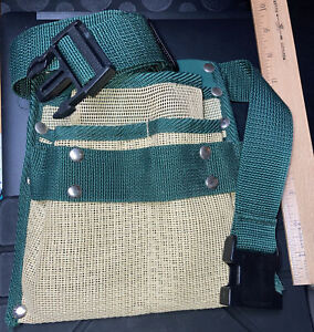 QKP Garden Tool Belt Canvas Waist Tool Apron With Pockets Gardening Kit Tote Bag Home Organizer Gardening Tool Kit Holder Lawn Yard Storage Bag