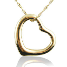 14k yellow Gold plated love heart bridal pendant necklace