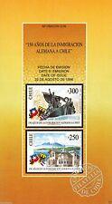 Chile 1996 Brochure 150 años de la Inmigracion Alemania en Chile
