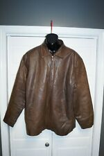 Leather Limited Men's Brown Genuine Leather Coat Jacket 2XL