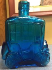 Blue Green Car Decanter Made In Italy vintage