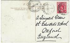Orange Free State 1906 Trompsburg PPC via Railway Telegraphs > England SCARCE