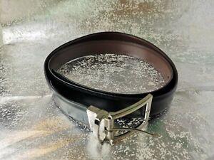 "Marks&Spenser Men's Leather Belt Formal Classic BLACK Size W42-44"" XXL 2XL -P280"