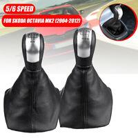5 / 6 Speed Gear Shift Knob Stick Gaiter Boot Cap For Skoda Octavia MK2 04-12