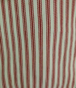 Pottery Barn Megan Arm Chair Slipcover Red  White Striped Twill Set Of 2
