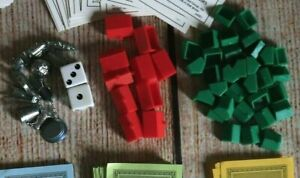 MONOPOLY Replacement Pieces ~ Player Tokens, Houses & Hotels ~ MBC