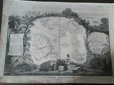 1849 LEVASSEUR COLONIES FRANCAIS IN SOUTH AMERICA FRENCH GUYANA ST.MARTIN