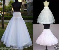 NEW BRIDAL WEDDING DRESS PROM PETTICOAT HOOPS UNDERSKIRT CRINOLINE REGULAR WAIST