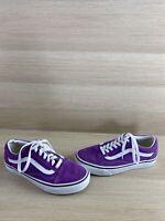 VANS Old Skool Purple Canvas/Suede Lace Up Low Top Skate Shoes Men 5.5  Womens 7