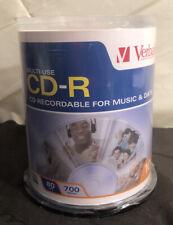 New 100 Verbatim Blank CD-R 700MB 80 Minute Media Disc