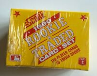SCORE 1990 ROOKIE & TRADED Card Set 110 Player Cards 10 Trivia Cards SEALED