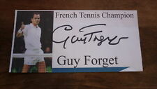 French Tennis Star Guy Forget Hand Signed Souvenir Cover