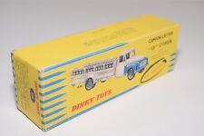 UU 1:43 DINKY TOYS 586 CAMION LAITIER 55 CITROEN MILK TRUCK EMPTY ORIGINAL BOX