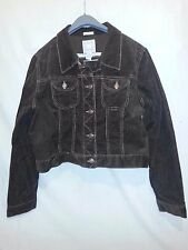 Old Navy Stretch Corduroy Jean Jacket Brown Trucker Style Womens S Youth XL NWOT