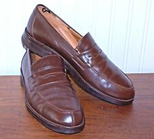 Barneys New York Mans Loafers 9.5 Medium Brown Penny Leather Comfort Sole