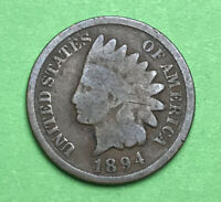 1894 1c  Indian Head Cent / Penny Good