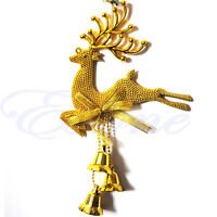 New Christmas Tree Ornaments Reindeer Deer Hanging Xmas Baubles Party Decor Gift