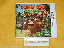DONKEY KONG RETURNS 3D x Nintendo 3DS / 2 DS versione ITALIANA NUOVO SIGILLATO
