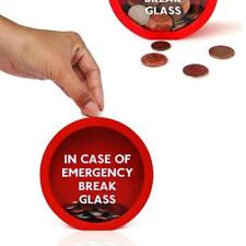 Glass Saving Jar Adventure Fund Piggy Bank Money Box Tin KS