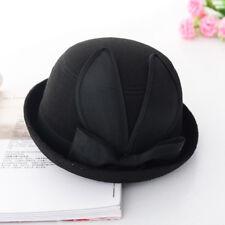 Fashion Vintage Women Wool Felt Bucket Hat Cloche Church Derby Bowler Cap
