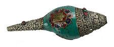 Conque tibetaine turquoise-Dungdkar-Instrument de musique Tibet conch 6657