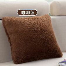 Soft Plush Square Pillow Case Sofa Waist Throw Cushion Cover Car Home Decor